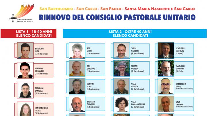 Elezioni del Consiglio Pastorale Unitario